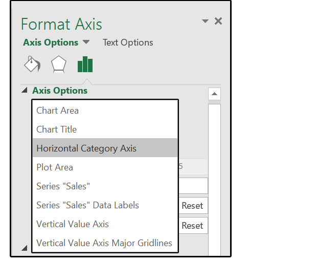 how to add horizontal axis label in excel 2016