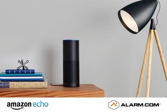 Alarm.com supports Amazon Echo