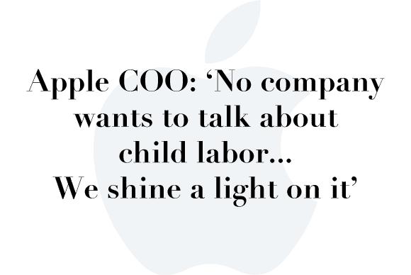 apple child labor