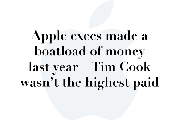 apple execs pay 2015