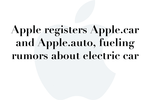 apple.car rumor