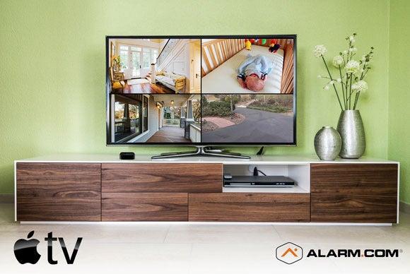 Alarm.com app on Apple TV