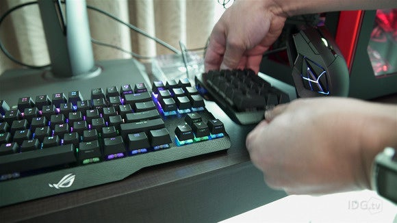asus rog claymore keyboard lets you switch the 10