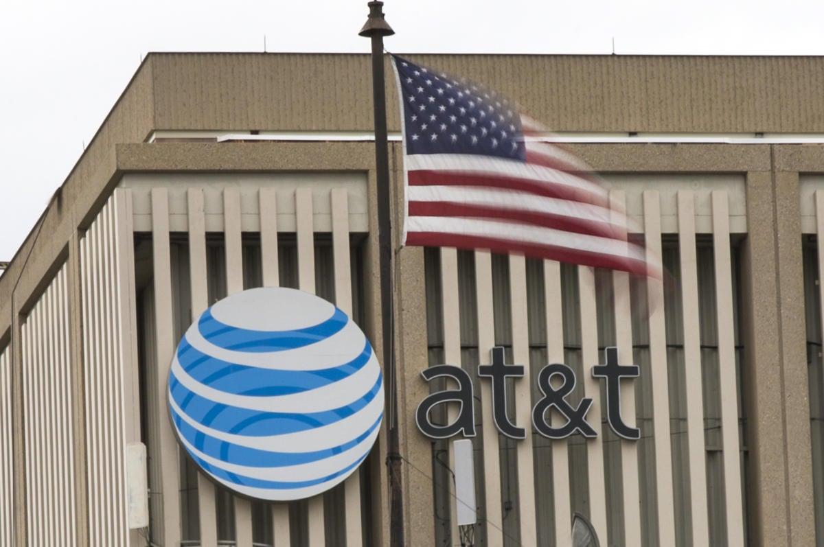 att AT&T logo american flag