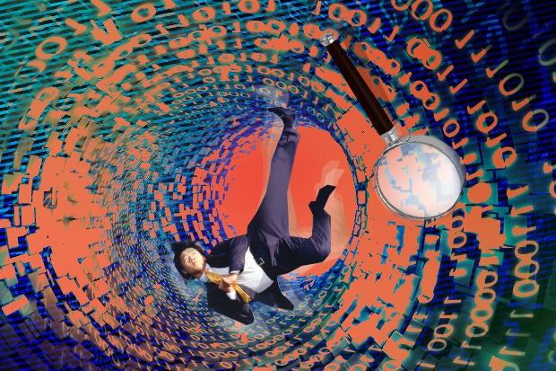 big data confusing overload spiral falling