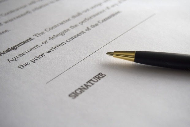 contract signature agreement fine print business