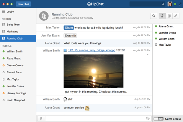 HipChat group chat