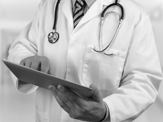 doctor tablet medical records