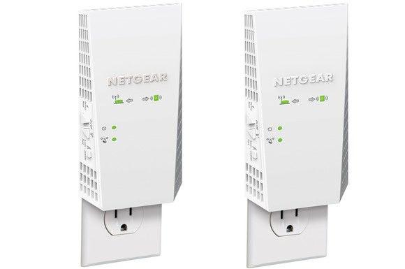 Netgear EX7300 on left, EX6400 on right
