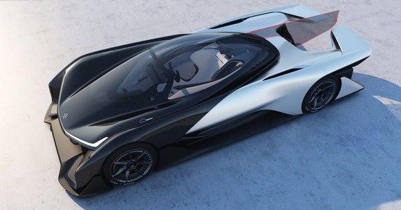 faraday future ffzero1 concept overhead view ces 2016
