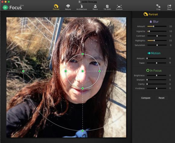 focus portrait face recognition