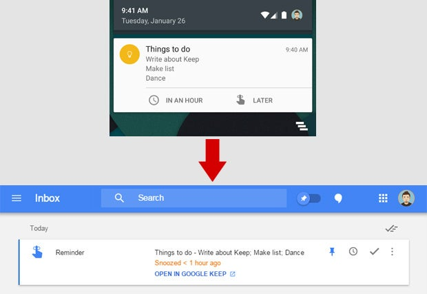 Google Keep Inbox