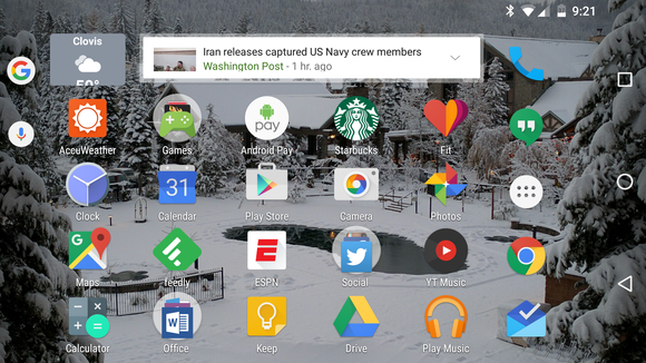 google now launcher autorotate