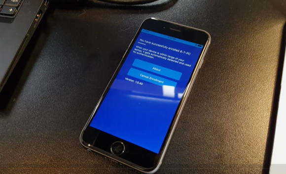 intel authenticate phone