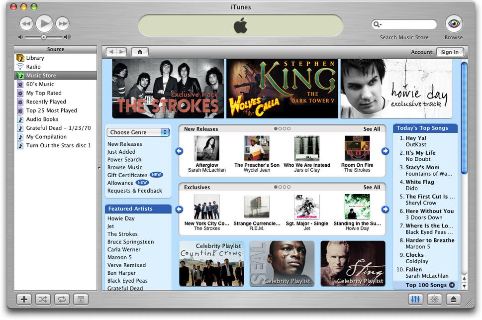 Itunes music store app