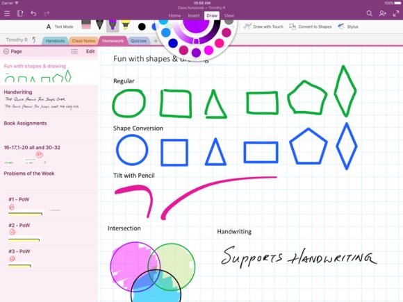 Microsoft Office iPad shape conversion