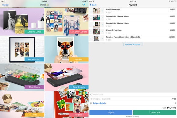 photobox interface and order pane