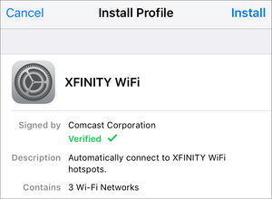 private i comcast 3 profiles