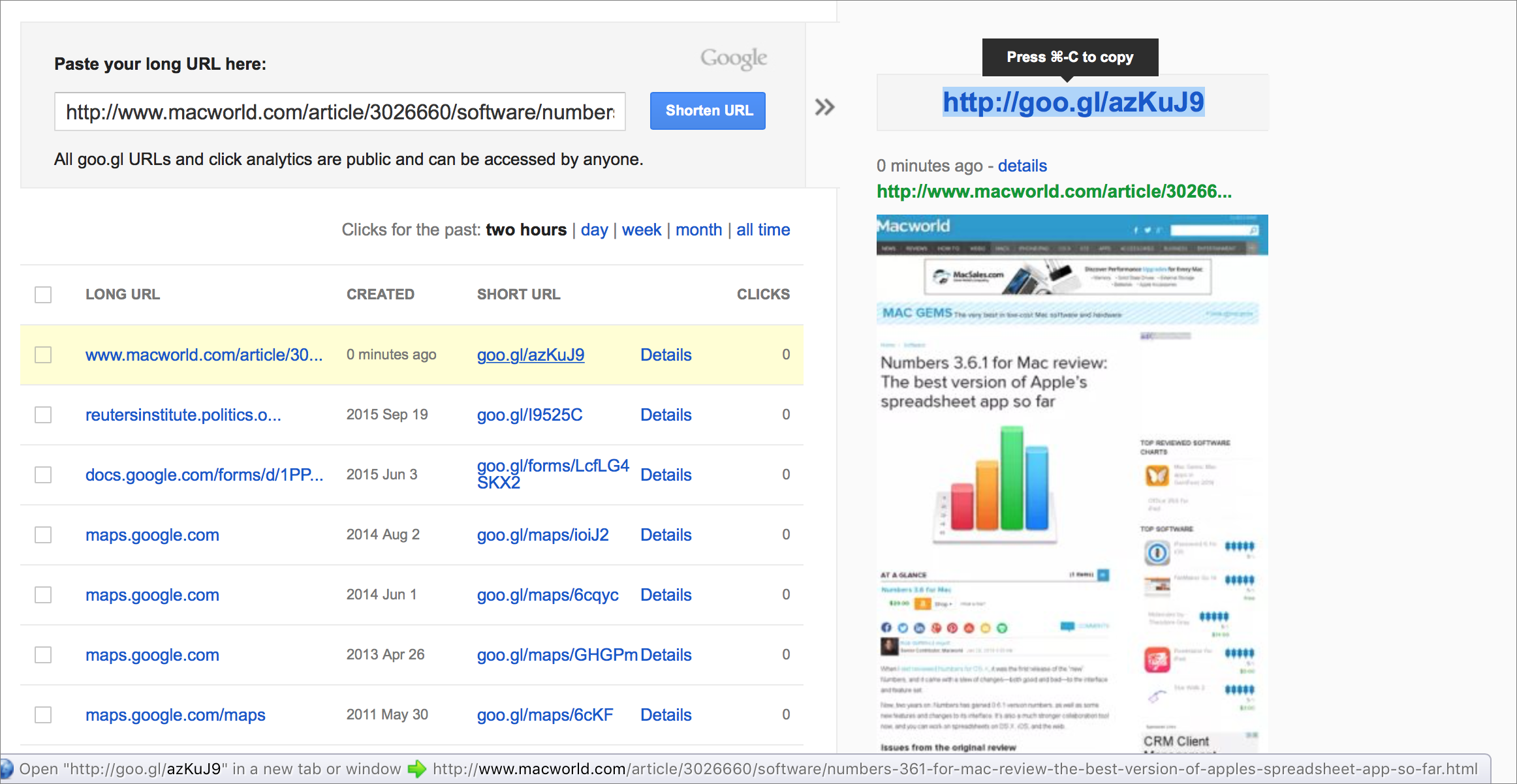 In short, stop using brief URLs | Macworld