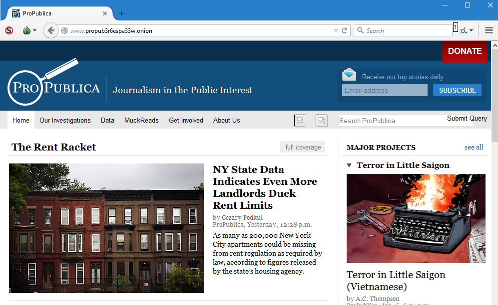 ProPublica joins the Dark Web with  onion version of news