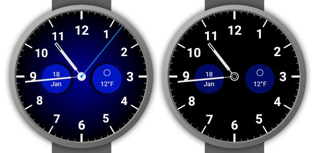 Pujie Black Android Wear Watch Face