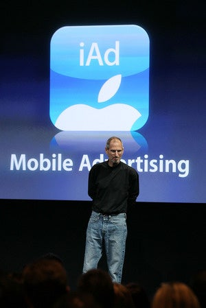 steve jobs iad mobile advertising