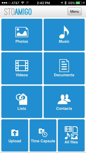 stoamigo iphone menu