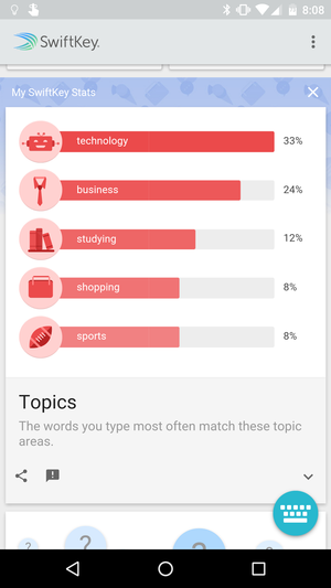 swiftkey stats screenshot
