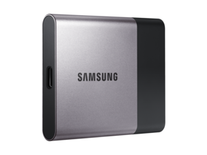 Samsung SSD T3 perspective shot