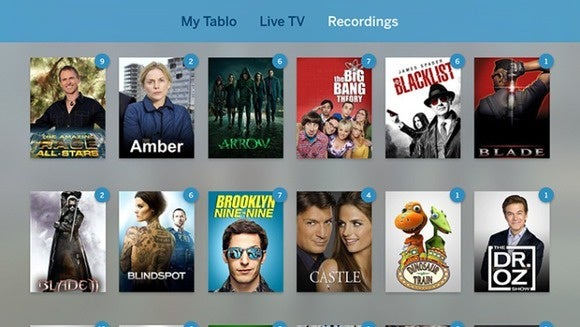 tablo apple tv interface