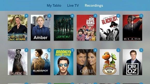 tablo apple tv interface