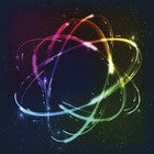 abstract of colorful atom
