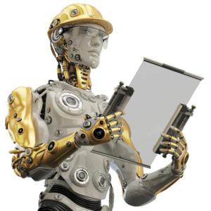 Artificial Intelligence robot worker