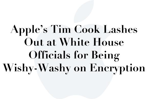 tim cook encryption white house