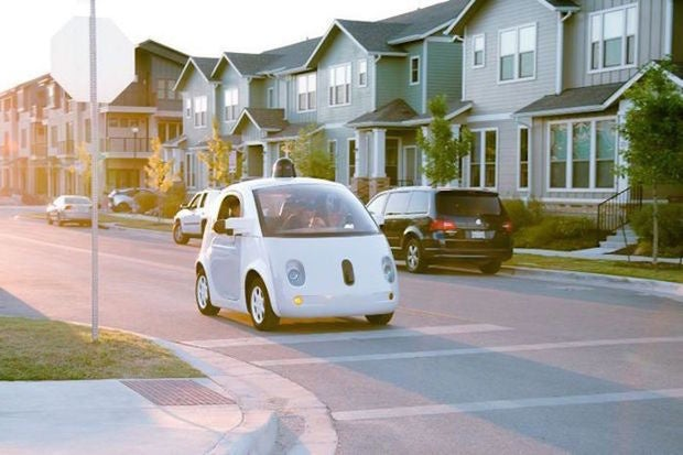 Google self-driving pod car