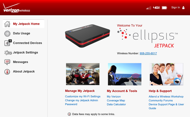 Verizon Ellipsis website