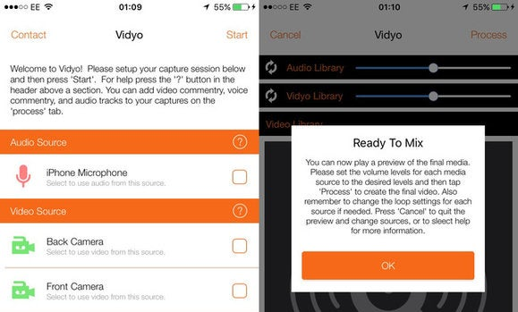 vidyo ios screen recording