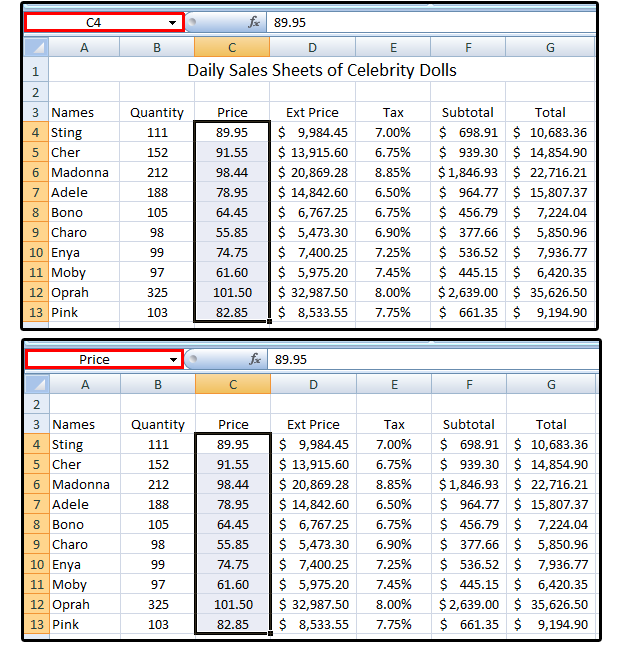 Excel pro tips: How to create, define, and use Named Ranges