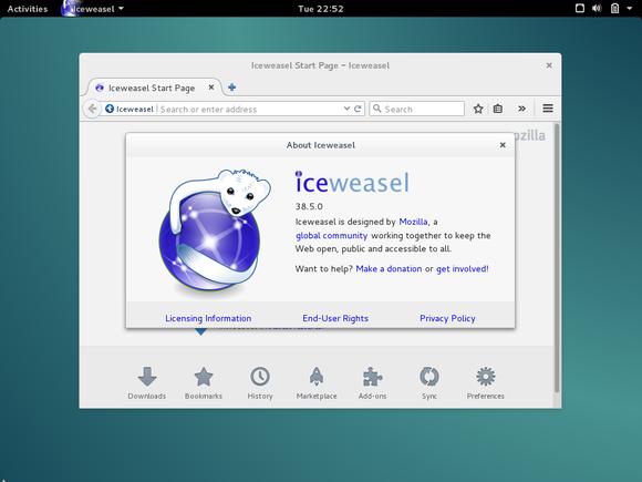 Iceweasel on Debian