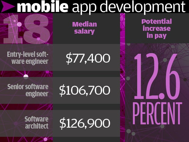 18. Mobile application development 12.6%