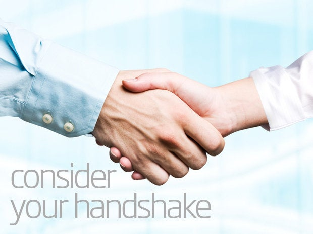 Find a happy medium with your handshake