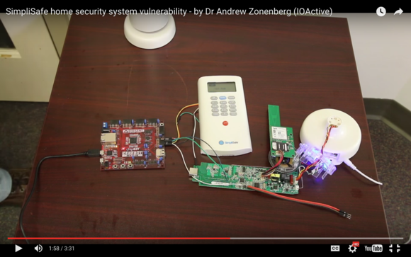 a simplisafe home security system hacked to record security codes