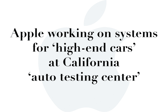 apple auto testing center