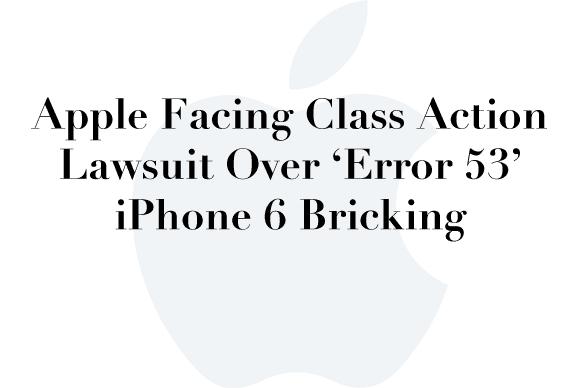 apple error 53 lawsuit