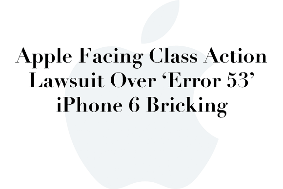 apple error 53 lawsuit