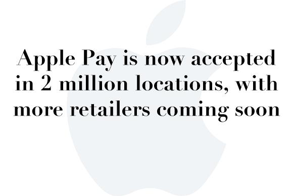 apple pay 2 million