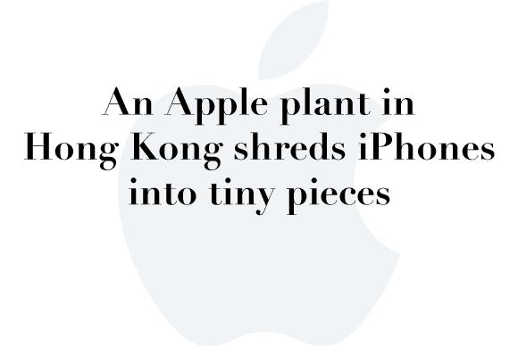 apple recycling hong kong
