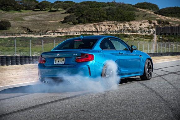 bmw m2 coupe smokey burnout mode