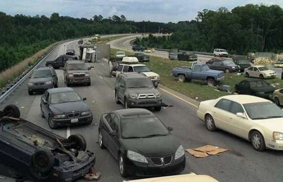 cars walking dead