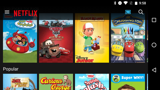 chromecast kids apps netflix